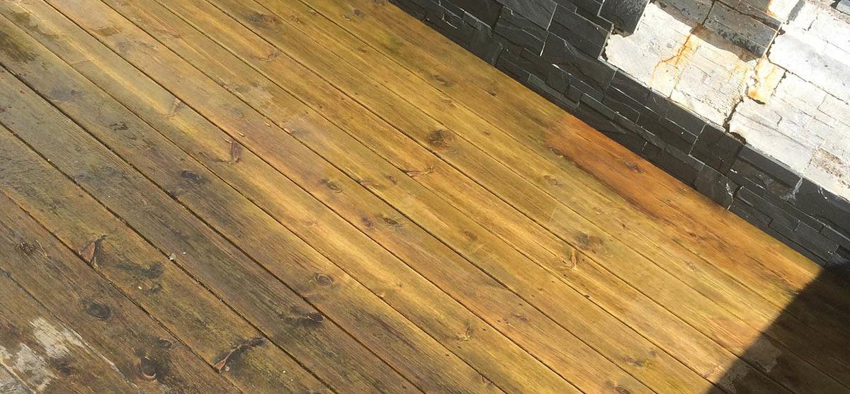 Enkel metode for rengjøring av terrassen