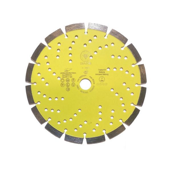 Diamantkappeblad, Topcut betong 230mm