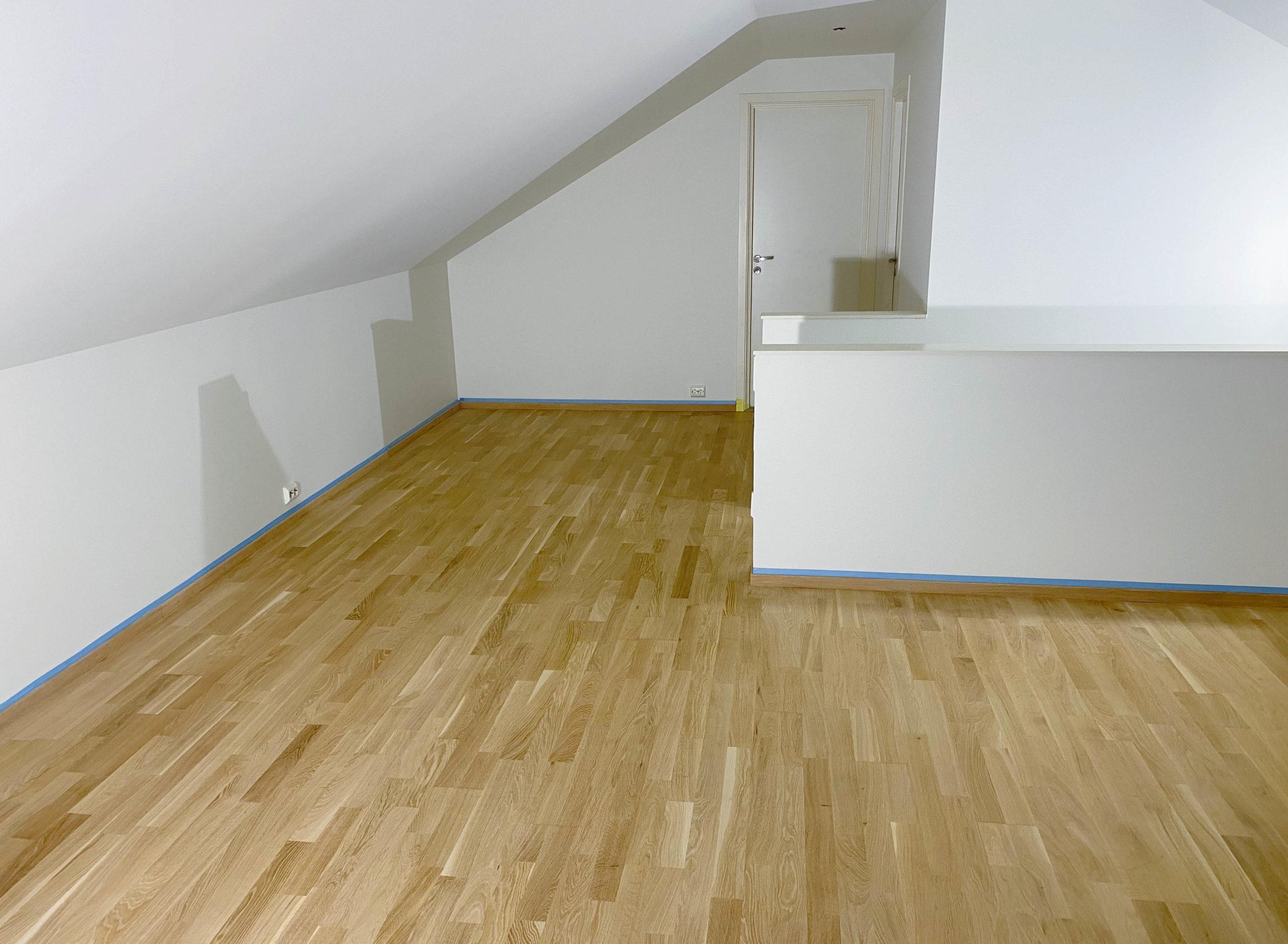 Utgangspunktet: gulvet før sliping